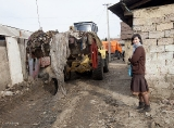 General cleaning rubbish in Roma camp