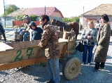 Нумерация повозок в ромском таборе (Мукачево)