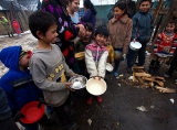 Christmas bograch in Roma settlement