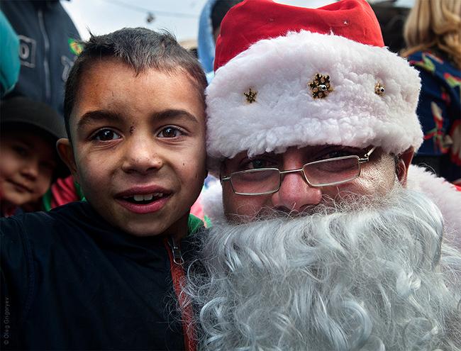 Новорічне свято в мукачівському ромському таборі